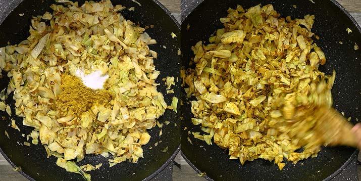 adding curry powder