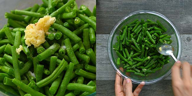 seasoning the green beans