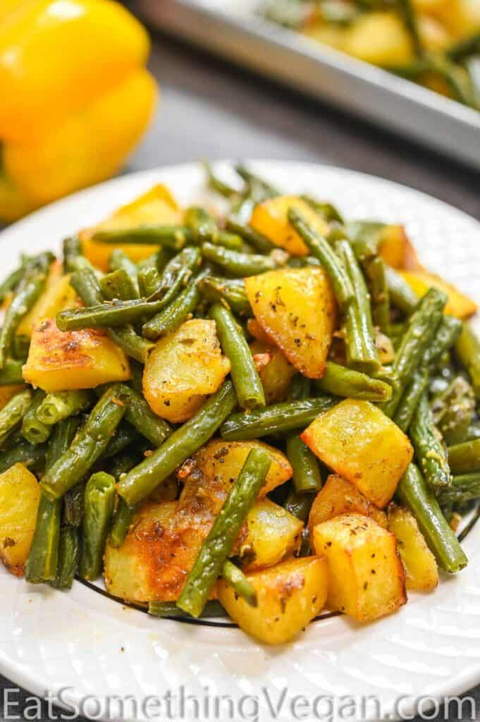 Potatoes and Green Beans on a plate