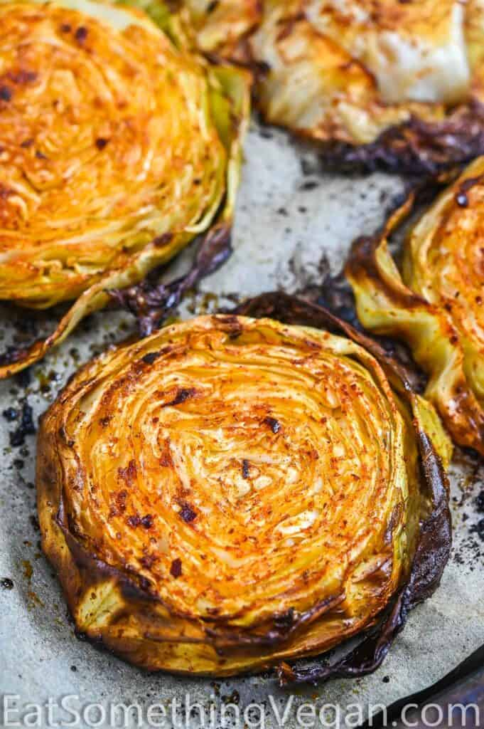 Roasted Cabbage on a tray