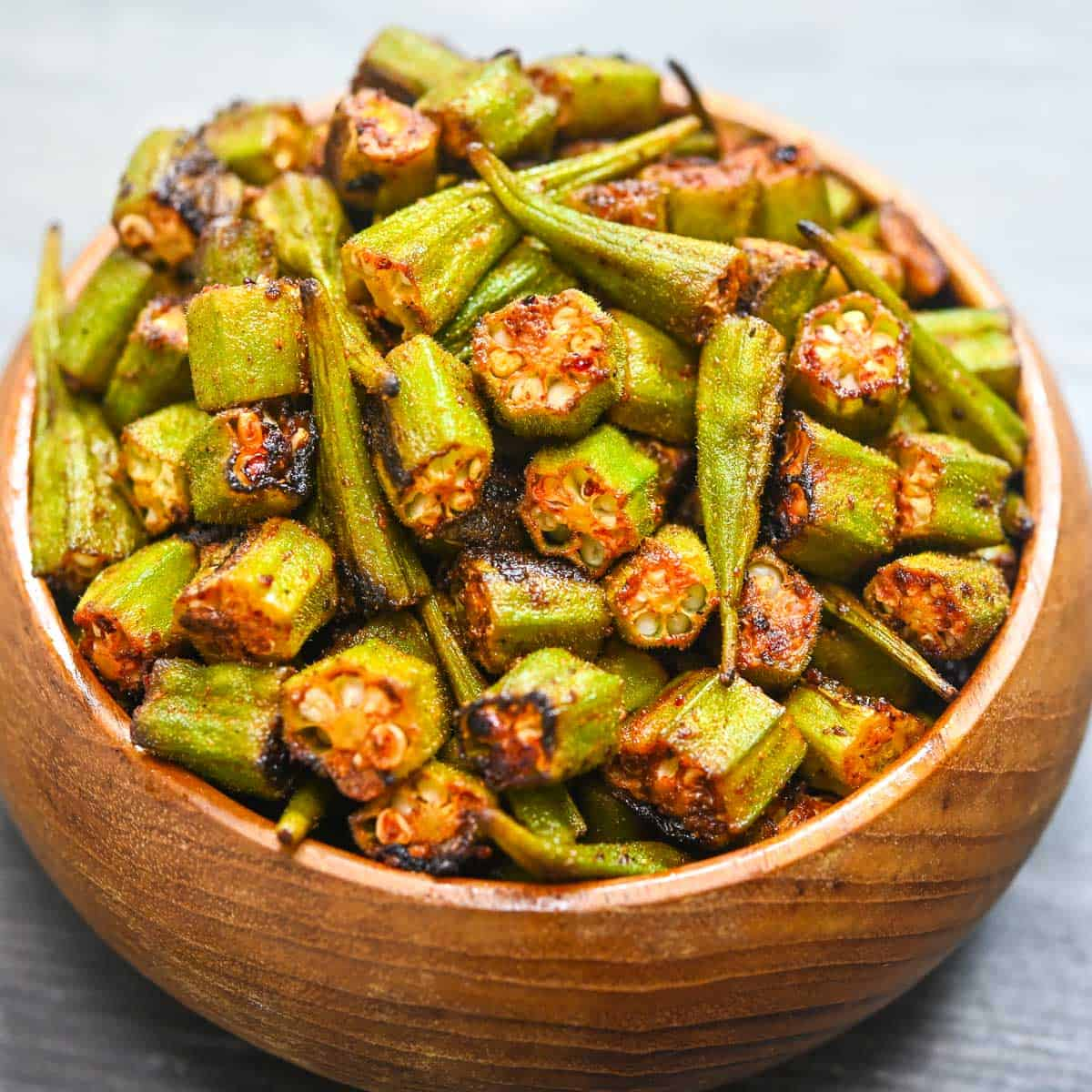 Garlic Roasted Okra Eat Something Vegan