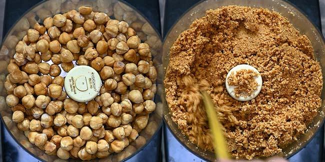 processing hazelnuts in food processor