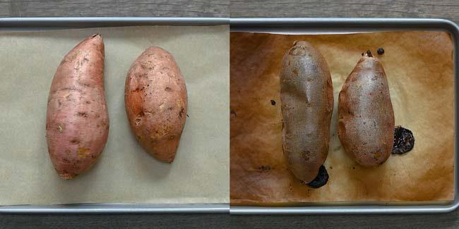 baking sweet potato
