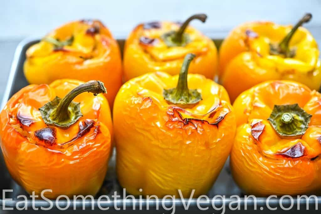 baked peppers on a tray