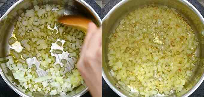 cooking onions in oil