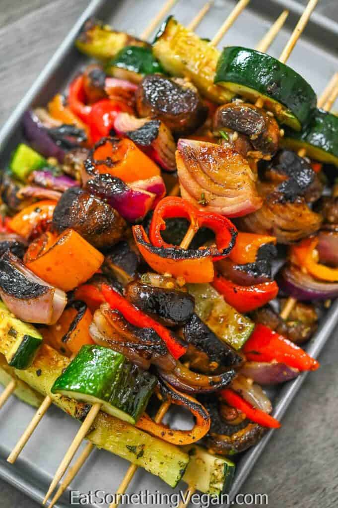 Vegetable Skewers on a tray