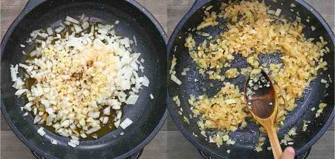 cooking onions and garlic
