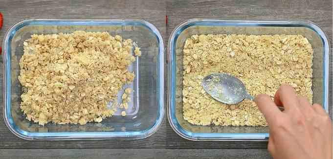 spreading oat mixture