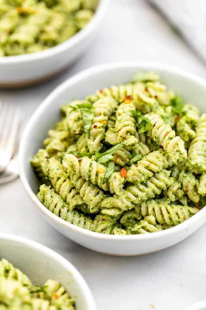 Vegan Nut-Free Pesto Pasta
