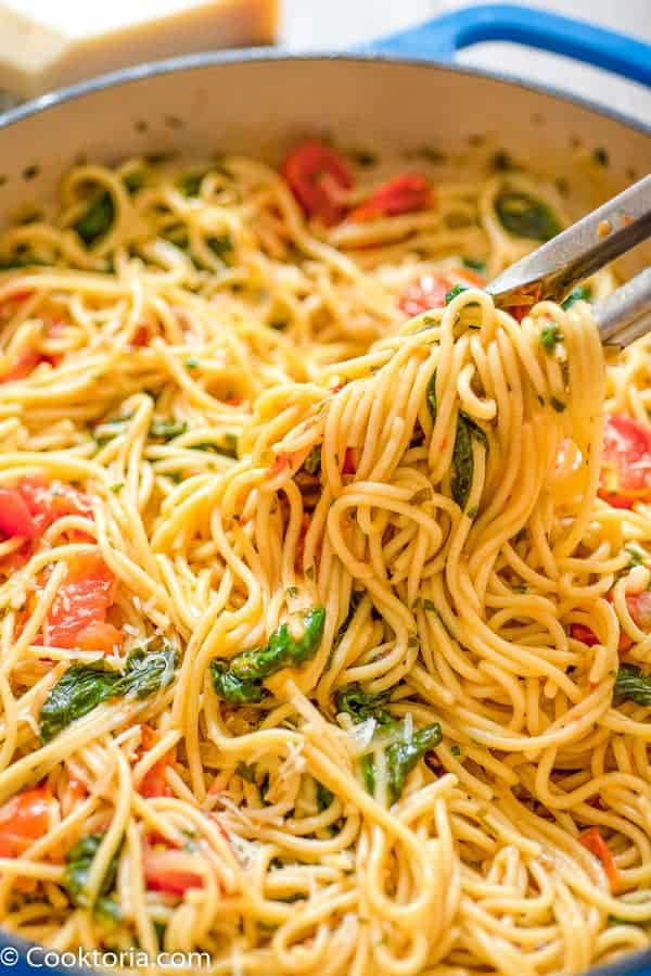 One-Pot Pasta with Spinach