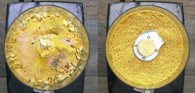 blending the ingredients in food processor