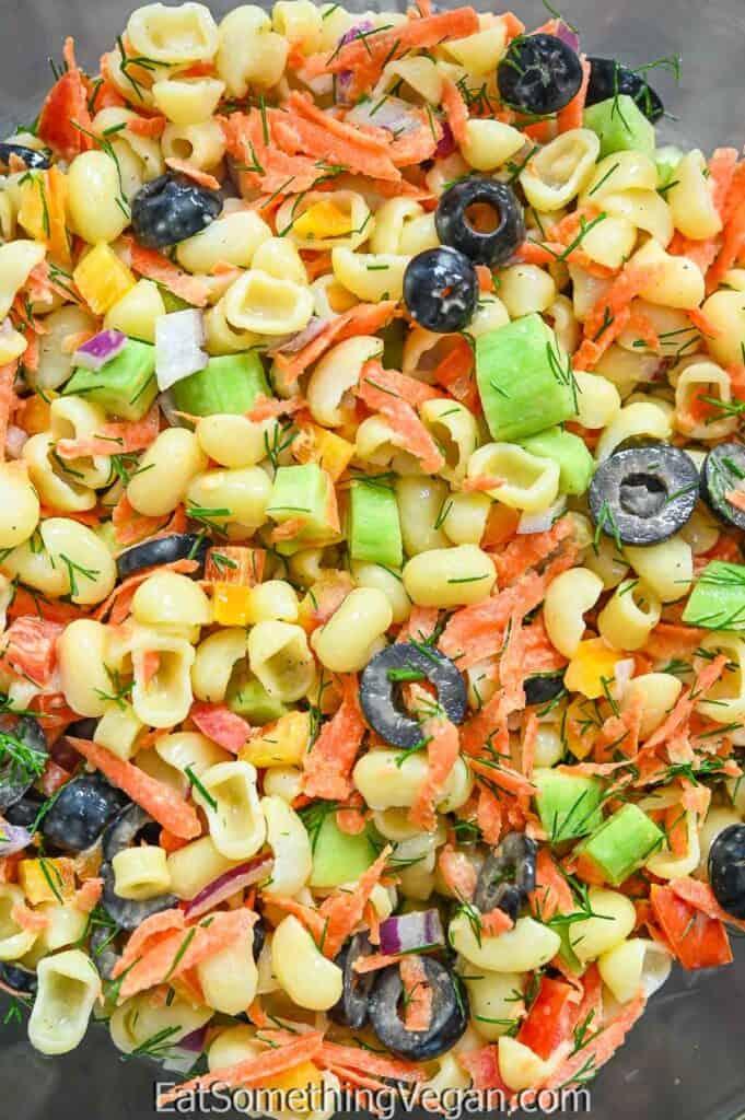 Vegan Pasta Salad in a bowl