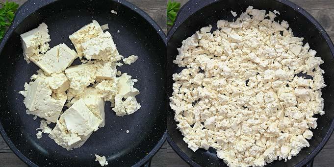 cooking the tofu