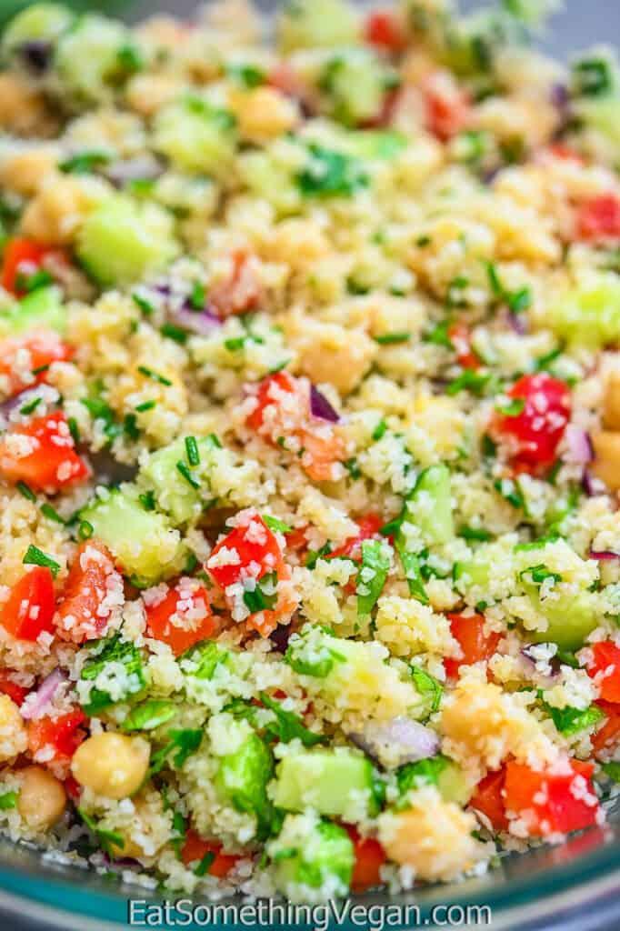 Bulgur Salad close up shot