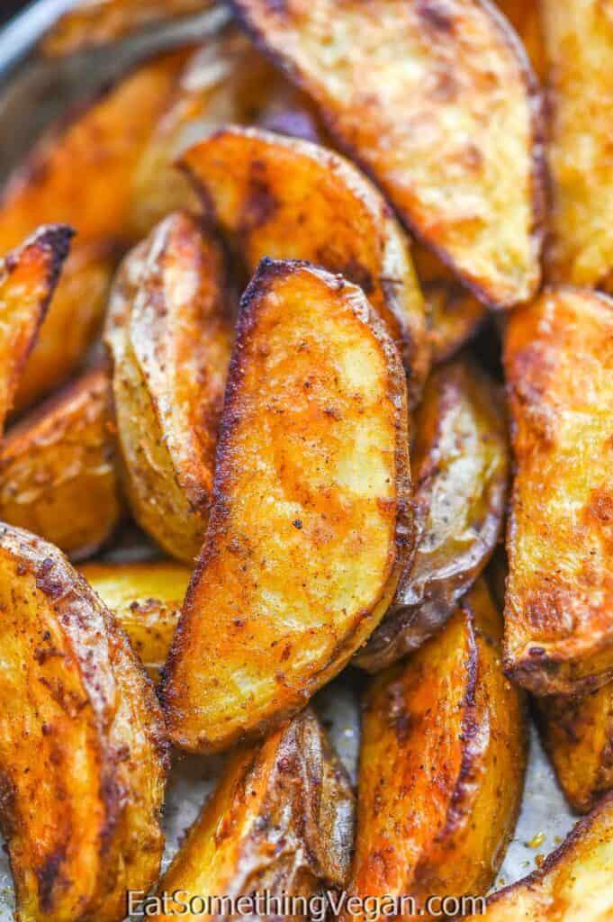 Paprika Baked Potatoes close up shot