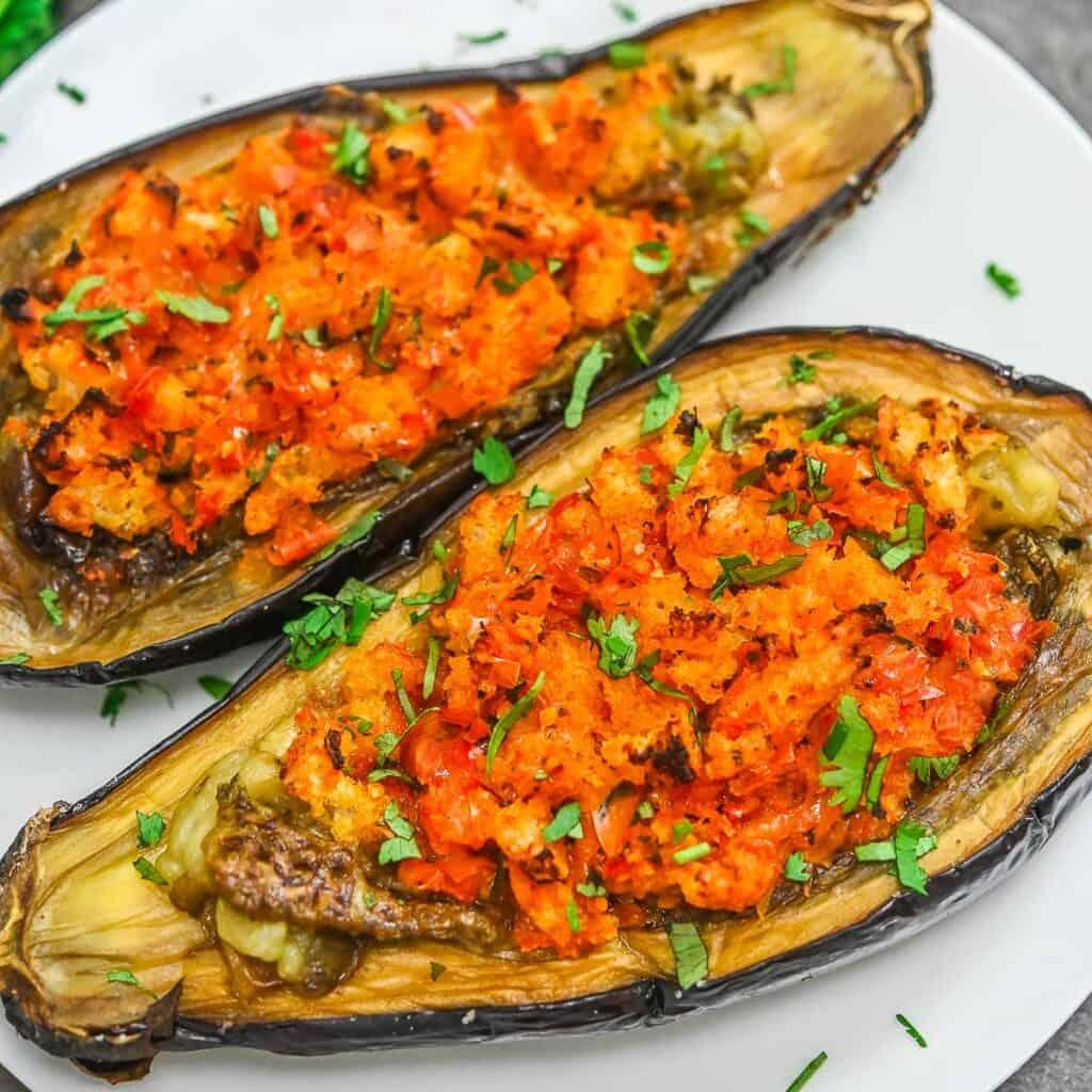 Vegan Stuffed Eggplants