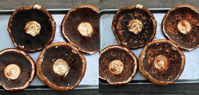 seasoning the mushrooms