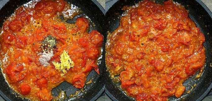 finishing the sauce