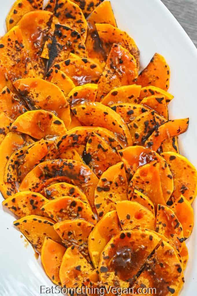 Roasted Pumpkin Salad on a plate