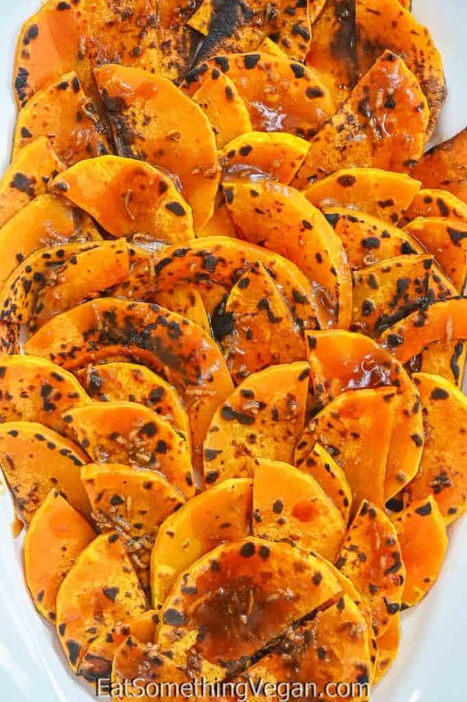 Roasted Pumpkin Salad close up shot
