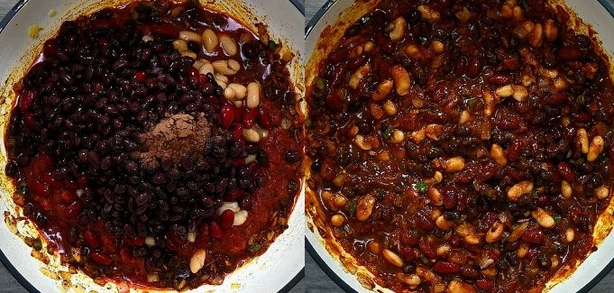 adding beans