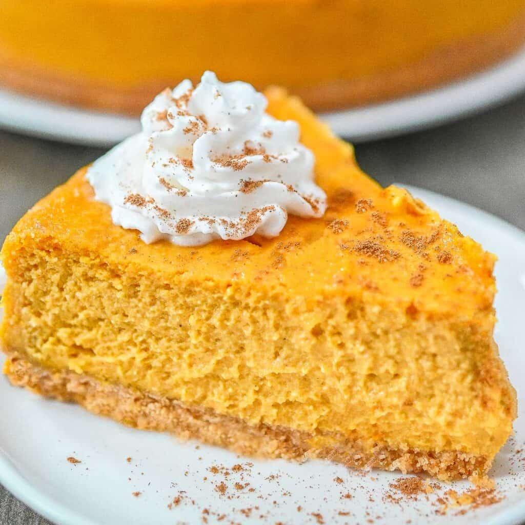 Vegan Pumpkin Cheesecake best dessert for Vegan Thanksgiving